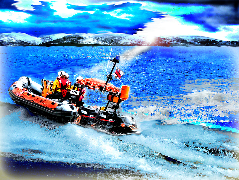 To rescue by Loch Ness Lifeboat Crew
