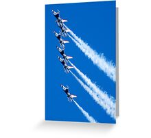 Thunderbirds in formation Greeting Card