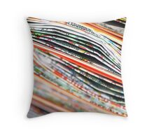 mapping the abstract Throw Pillow