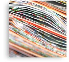 mapping the abstract Metal Print