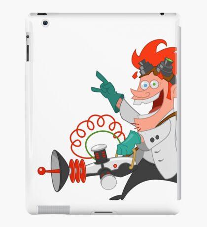 crazy scientist iPad Case/Skin
