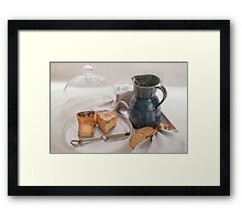 Cheese Cloche Framed Print