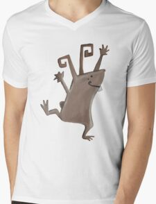 Rabbit Mens V-Neck T-Shirt
