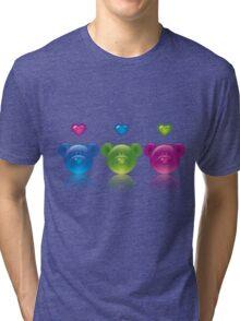 three bears Tri-blend T-Shirt
