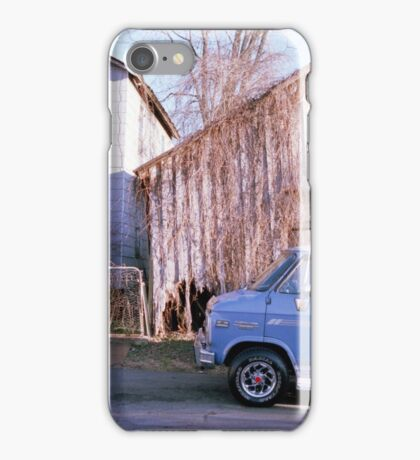 Blue Van and a Broken Shed iPhone Case/Skin