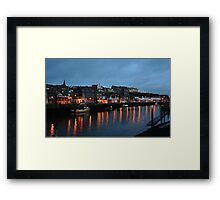 Reflections on the water, Whitby Framed Print