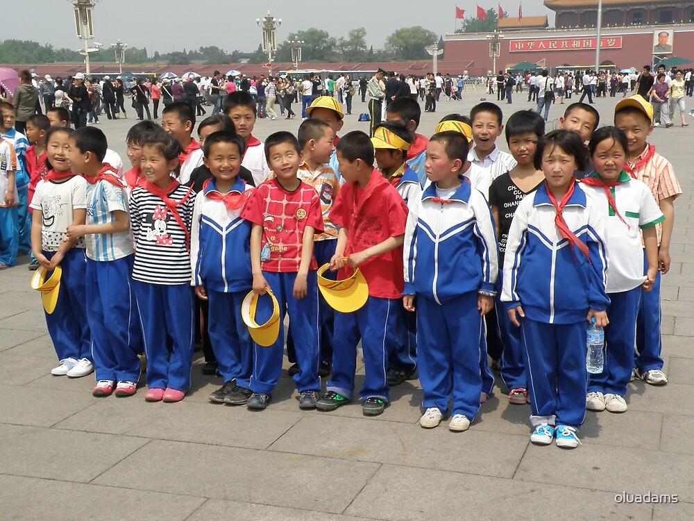 School Trip in Tiananmen Square by oluadams