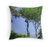 Tree Surgeon Throw Pillow