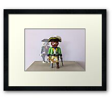 playmobil pirate Framed Print