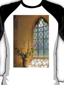 Norman Glass Window, All Saint's Church, Somerset T-Shirt