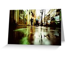 Rain in Boulogne Greeting Card