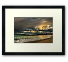 Evening Storm Passing By Framed Print