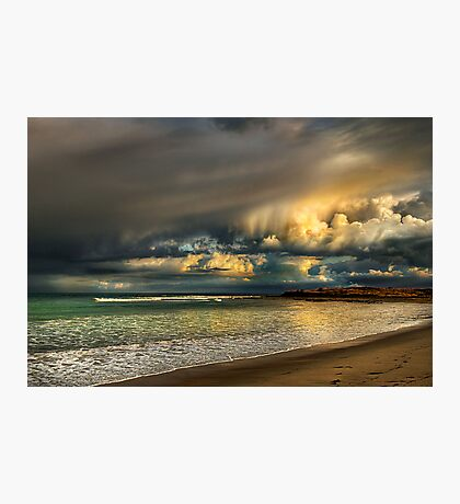Evening Storm Passing By Photographic Print