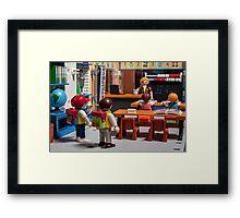 playmobil school Framed Print