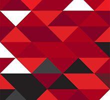 Ferrari F1 Geometric Print by kiss-the-apex