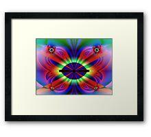 Physcodelic Butterfly Framed Print