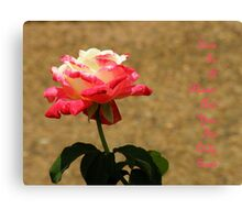 The Rose ~ Part Two Canvas Print