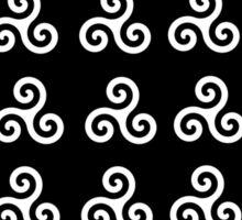 White triskelions Sticker