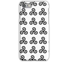 Black Triskelions iPhone Case/Skin