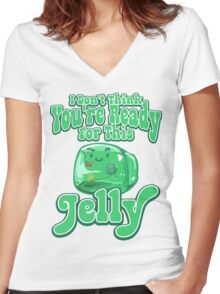 Gelatinous Cube - I don't think you're ready for this jelly  Women's Fitted V-Neck T-Shirt