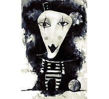'Happy' - dark clown Photographic Print