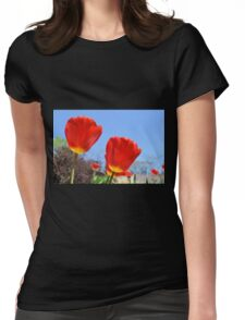 Toward the Sun Womens Fitted T-Shirt