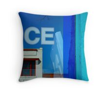 Storefront Reflections. Throw Pillow