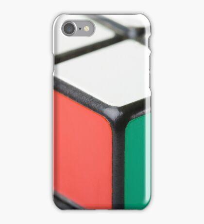 Closeup of Rubik's Cube iPhone Case/Skin