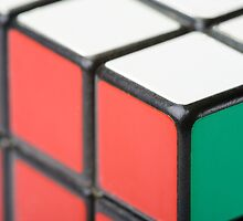 Closeup of Rubik's Cube by MaxalTamor