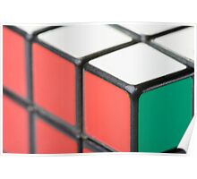 Closeup of Rubik's Cube Poster