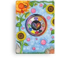 Hearts A'Bloom Canvas Print