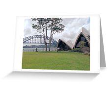 Opera House and Bridge Greeting Card