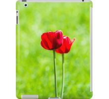 Two red tulips iPad Case/Skin