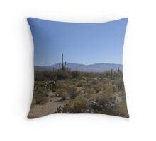 Rincon Mountain Range Throw Pillow
