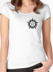 Supernatural anti-possession symbol Women's Fitted Scoop T-Shirt