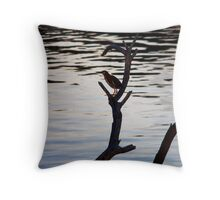 A Shorebirds Perch Throw Pillow