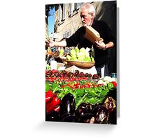At the Marche Greeting Card