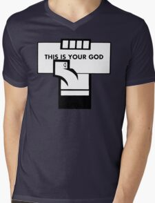 This Is Your God Mens V-Neck T-Shirt