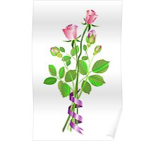 Roses and Buds Poster