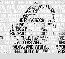 Kurt Cobain typographic tribute by choward91
