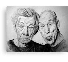 Magneto and X professor Canvas Print