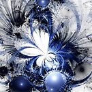 Blizzard - Abstract Fractal Artwork by EliVokounova