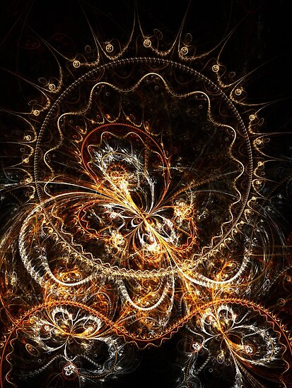 Butterfly - Abstract Fractal Artwork by EliVokounova