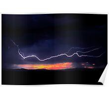 Sunrise Lightning Poster