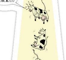Cattle abduction Sticker