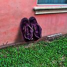 Big Shoes on Pink by GolemAura