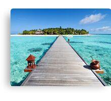 Seascape on Maldives Island Canvas Print