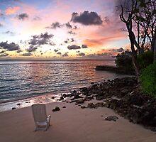 Sunrise on the beach of Maldives Island by sf2301420max