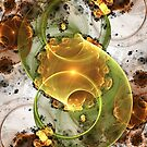 Coffee or Tea - Abstract Fractal Artwork by EliVokounova