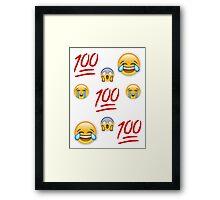 Variety Emoji Fade Framed Print